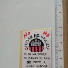 Autocollants de collection: PEGATINA POLÍTICA DERECHA. Lote 237443520