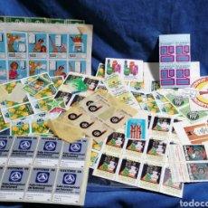 Pegatinas de colección: LOTE ADHESIVOS Y VIÑETAS EXPOSICIONES. Lote 238297785