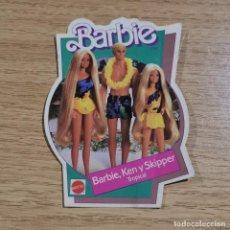 Pegatinas de colección: ANTIGUA PEGATINA - BARBIE - BARBIE, KEN Y SKIPPER TROPICAL - MATTEL - 1986 / 12. Lote 238377075