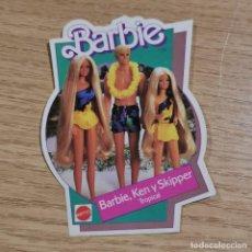 Pegatinas de colección: ANTIGUA PEGATINA - BARBIE - BARBIE, KEN Y SKIPPER TROPICAL - MATTEL - 1986 / 17. Lote 238377955