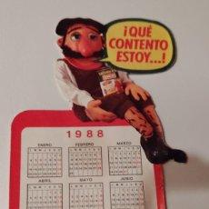 Pegatinas de colección: PEGATINA CALENDARIO MACARIO 1988 STARLUX. Lote 240512590