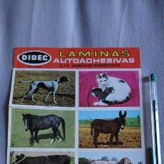 Pegatinas de colección: LÁMINAS AUTOADHESIVAS DIDEC N 3 ANIMALES DOMÉSTICOS. Lote 240634460