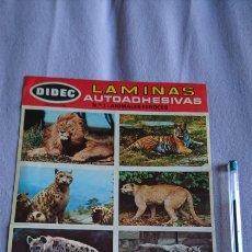 Pegatinas de colección: LÁMINAS AUTOADHESIVAS DIDEC N 1 ANIMALES FEROCES. Lote 240634755