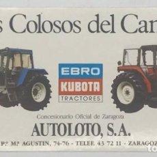 Pegatinas de colección: PEGATINA EBRO KUBOTA TRACTORES LOS COLOSOS DEL CAMPO. Lote 240747490