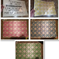 Autocolantes de coleção: PAQUETE COMPLETO 4 PLIEGOS PEGATINAS PARCHES TELA HOROSCOPOS Y NOMBRES CAZAFANTASMAS AÑOS 80 KIOSCO. Lote 243433510