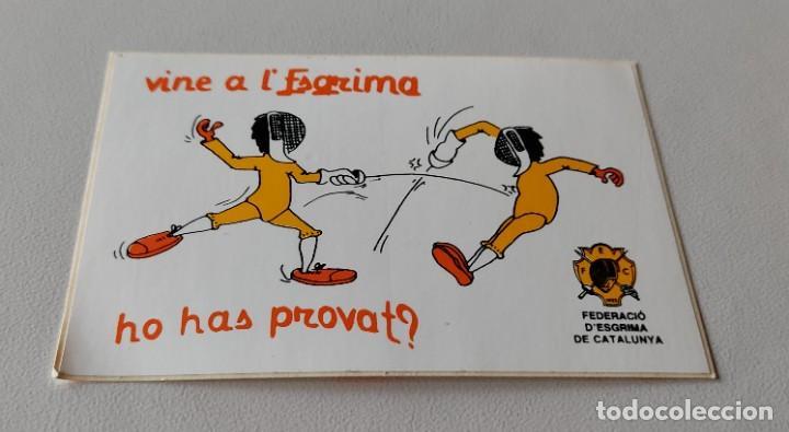 PEGATINA FEDERACIÓ D' ESGRIMA CATALUNYA (Coleccionismos - Pegatinas)