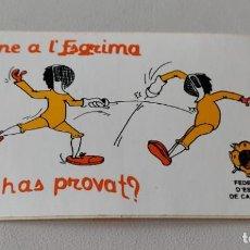 Pegatinas de colección: PEGATINA FEDERACIÓ D' ESGRIMA CATALUNYA. Lote 243833545