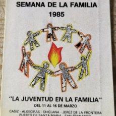 """Pegatinas de colección: ANTIGUA PEGATINA """"SEMANA DE LA FAMILIA 1985"""". Lote 244409415"""
