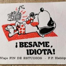 """Pegatinas de colección: ANTIGUA PEGATINA """"PRO-VIAJE FIN DE ESTUDIOS - F.P. HELIÓPOLIS"""". Lote 244411480"""