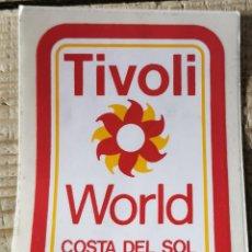 "Pegatinas de colección: ANTIGUA PEGATINA ""TIVOLI WORLD - COSTA DEL SOL"". Lote 244411700"