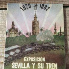 """Pegatinas de colección: ANTIGUA PEGATINA """"EXPOSICIÓN SEVILLA Y SU TREN 1983"""". Lote 244411900"""