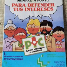 """Pegatinas de colección: ANTIGUA PEGATINA """"PUNTO DE INFORMACIÓN AL CONSUMIDOR - DIRECCIÓN GENERAL DE CONSUMO"""". Lote 244413300"""