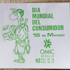 "Pegatinas de colección: ANTIGUA PEGATINA ""DIA MUNDIAL DEL CONSUMIDOR"". Lote 244416080"