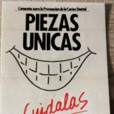 """Pegatinas de colección: ANTIGUA PEGATINA """"PIEZAS ÚNICAS - MINISTERIO DE SANIDAD Y CONSUMO"""". Lote 244417525"""