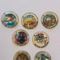 Pegatinas de colección: CHAPAS COCACOLA MONTREAL DEPORTES MÁS EGIPTO. Lote 244758770