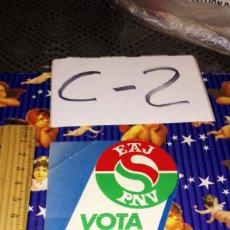 Pegatinas de colección: PEGATINA POLÍTICA POLÍTICO VASCO VASCA EAJ PNV VOTA. Lote 245277395