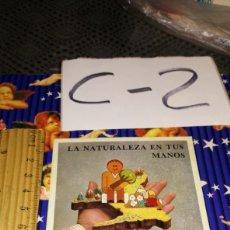 Pegatinas de colección: PEGATINA COMUNIDAD DE MADRID LA NATURALEZA EN TUS MANOS. Lote 245277820