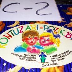 Pegatinas de colección: PEGATINA EUSKERA CAMPAÑA EDUCACIÓN SEGURIDAD INFANTIL CONSUMO. Lote 245279345