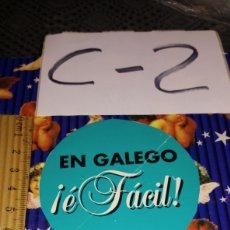 Pegatinas de colección: PEGATINA GALICIA EN GALEGO E FÁCIL VER FOTOS DOBLEZ CENTRAL. Lote 245280245
