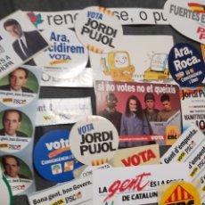 Pegatinas de colección: LOTE 50 PEGATINAS POLÍTICA CATALANA DE LOS 90. Lote 245298225
