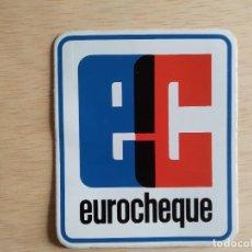 Pegatinas de colección: PEGATINBA EUROCHEQUE. Lote 245582650