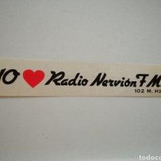 Pegatinas de colección: PEGATINA RADIO NERVION. Lote 246135195