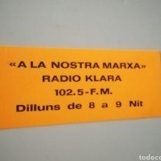 Pegatinas de colección: PEGATINA RADIO KLARA. Lote 246135385