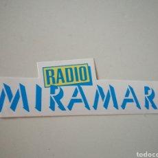 Pegatinas de colección: PEGATINA RADIO MIRAMAR. Lote 246135760