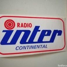 Pegatinas de colección: PEGATINA RADIO INTERCONTINENTAL. Lote 246135915