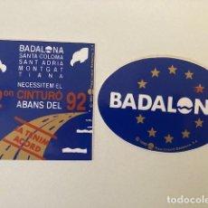 Pegatinas de colección: 2 PEGATINAS BADALONA ANTIGUAS. Lote 247559660
