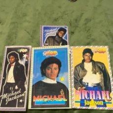 Pegatinas de colección: LOTE PEGATINAS ANTIGUAS SÚPER POP MICHAEL JACKSON. Lote 248565470