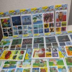 Pegatinas de colección: 150 PEGATINAS EN 3D EN HOJAS DE 5 MUY BIEN CONSERVADAS.. Lote 248586560