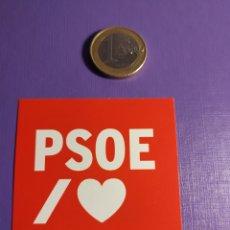 Autocolantes de coleção: PEGATINA POLÍTICA I LOVE PSOE. Lote 251709790