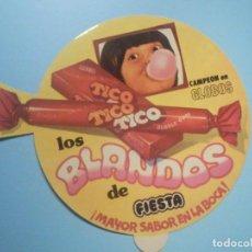 Pegatinas de colección: PEGATINA - ADHESIVO - CHICLES TITO TICO - FIESTA - LOS BLANDOS, CAMPEÓN DE GLOBOS - 19 CM.. Lote 251733010