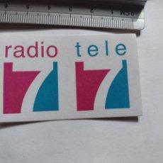 Pegatinas de colección: PEGATINA RADIO 7 - TELE 7 - STICKER. Lote 252153525