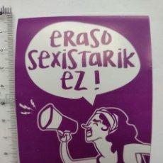 Pegatinas de colección: ERASO SEXISTARIK EZ! - BILBOKO KONPARTSAK - PEGATINA - STICKER. Lote 252371935