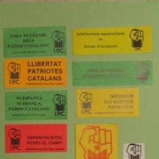 Autocollants de collection: 10 PEGATINAS PROCLAMAS INDEPENDENTISTAS - IPC -. AÑOS 80.. Lote 252676910