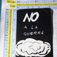 Autocolantes de coleção: PEGATINA POLÍTICO SINDICAL. NO A LA GUERRA CGT GUERRA NUCLEAR. 9. Lote 253577200