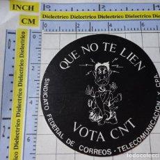 Autocolantes de coleção: PEGATINA POLÍTICO SINDICAL REIVINDICATIVO. CNT QUE NO TE LIEN SINDICATO FEDERAL DE CORREOS. 17. Lote 253577930