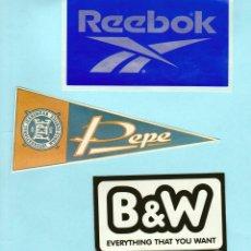 Pegatinas de colección: LOTE PEGATINAS - REEBOK, PEPE JEANS, B&W. Lote 253652370