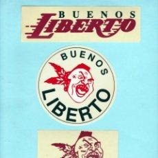 Pegatinas de colección: LOTE PEGATINAS JEANS / VAQUEROS - BUENOS LIBERTO. Lote 253652505