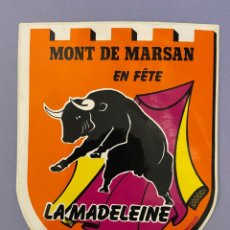 Pegatinas de colección: PEGATINA FRANCESA, MONT DE MARSAN, LA MADELEINE. Lote 253878170