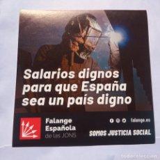 Pegatinas de colección: PEGATINA POLÍTICA,FALANGE,CARLISTA,JOSÉ ANTONIO PRIMO DE RIVERA,FUERZA NUEVA,FRANCO,FRANQUISTA. Lote 256001845