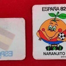 Pegatinas de colección: PEGATINA PARA EL COCHE , ESPAÑA 82 , NARANJITO. Lote 259925390