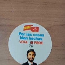 Pegatinas de colección: PSOE MADRID, PEGATINA POLÍTICA,JUAN BARRANCO. Lote 261671155