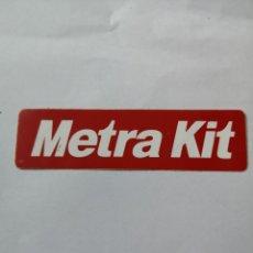 Pegatinas de colección: T0. PE081. PEGATINA. METRA KIT. Lote 261836645