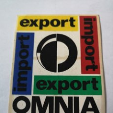 Pegatinas de colección: T0. PE082. PEGATINA EXPORT OMNIA BRATISLAVA. Lote 261838870