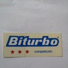 Pegatinas de colección: T0. PE087 PEGATINA BITURBO COMPETICION. Lote 261840865