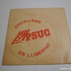 Pegatinas de colección: PEGATINA ADHESIVO PSUC 1977 (BUEN ESTADO). Lote 263693465