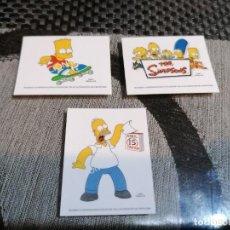 Pegatinas de colección: PEGATINAS SIMPSONS 3 MODELOS. Lote 290146033